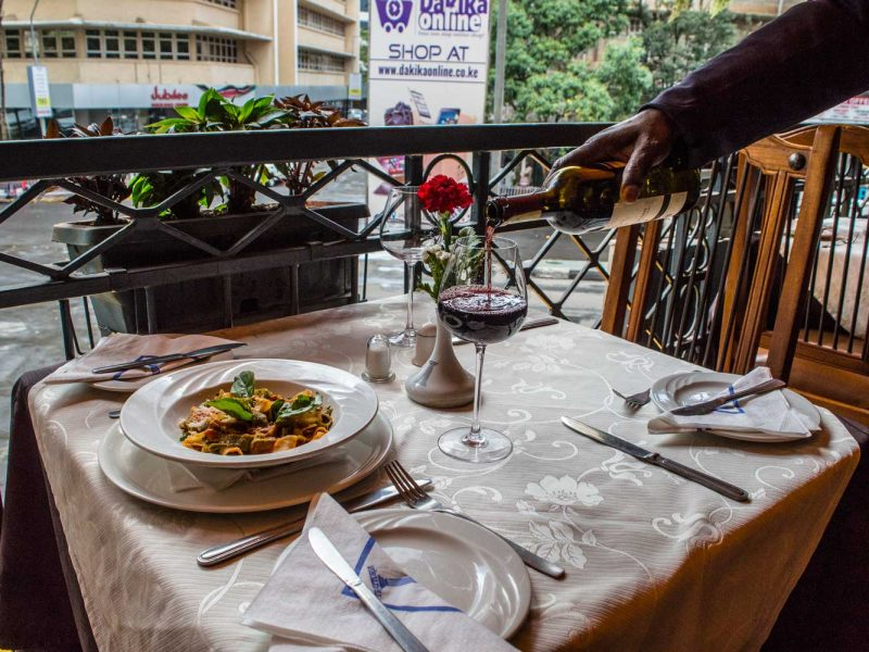 Overlook the CBD While You Have A Delicious Meal